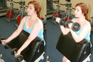 antes de empezar a entrenar pliegues de biceps
