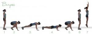 ejercicio burpees