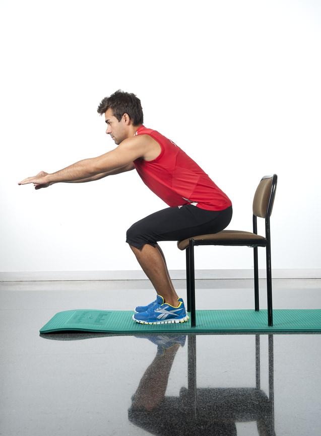 circuito ejercicios sentadillas
