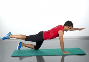 tone your back superman exercise