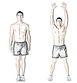ejercicio jumping jacks