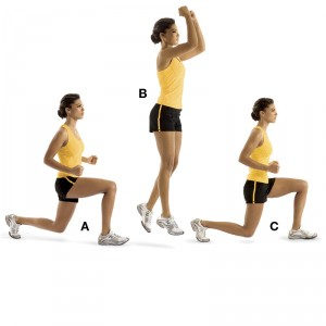 circuito lunge jumps