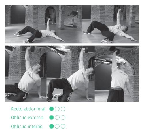 ejercicios abdominales levantamientos turcos