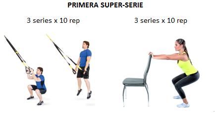 sentadilla ejercicio trx