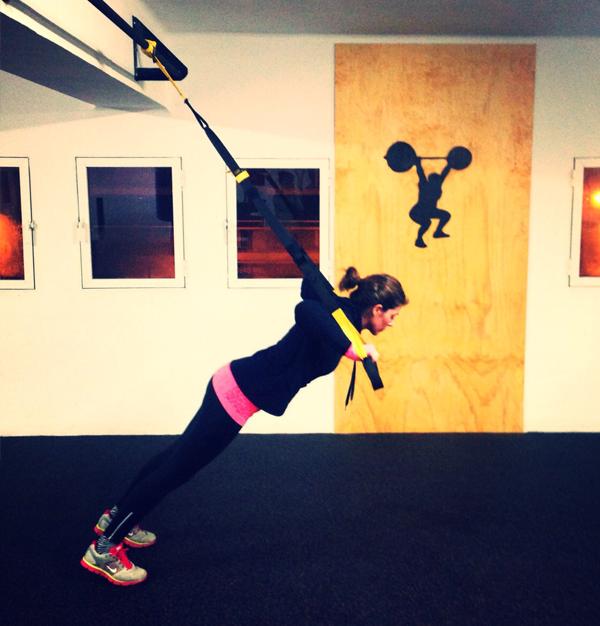 trx ejercicios basicos flexiones