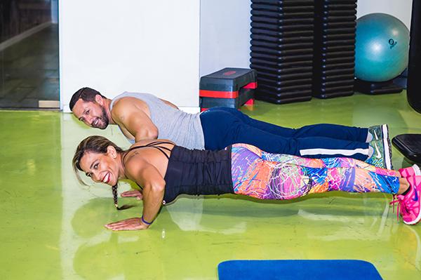 entrenamiento de fuerza flexiones