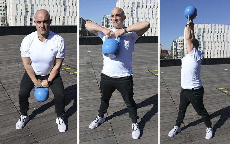 ejercicios con dos pesas rusas