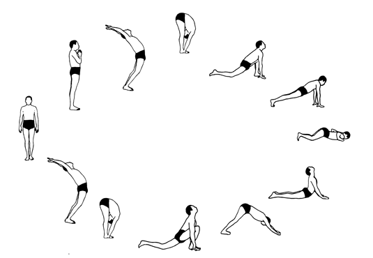 rueda saludo al sol yoga
