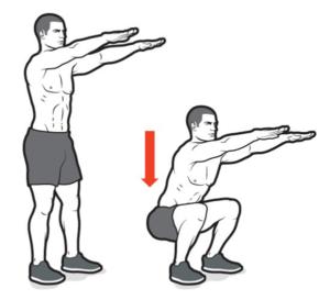 ejercicios de crossfit squats