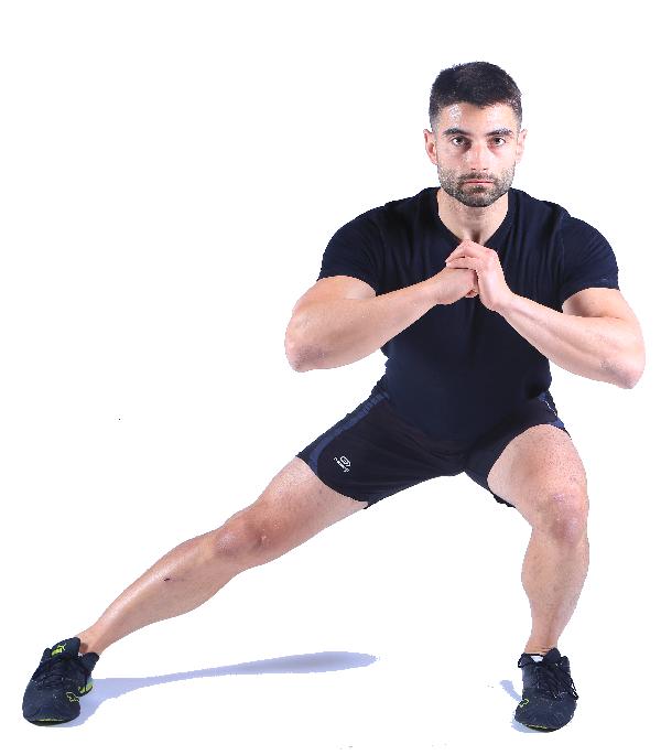 ejercicios para piernas y gluteos lunge lateral