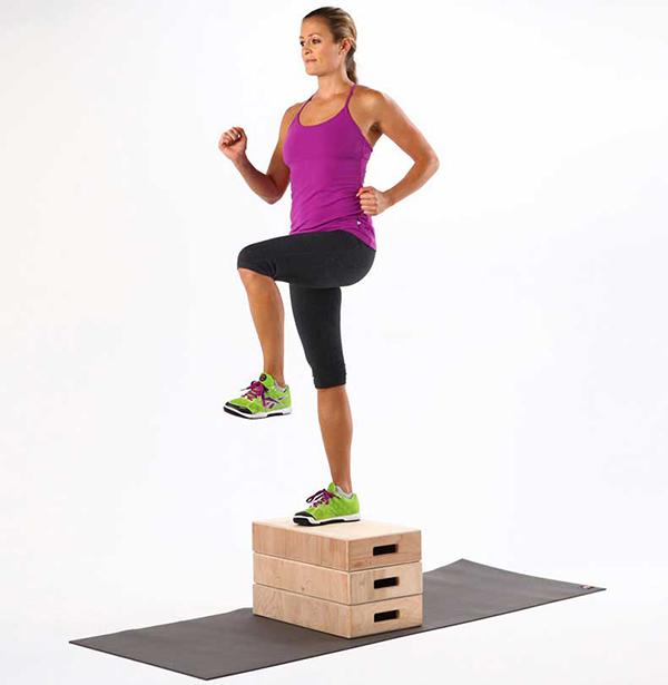ejercicios para piernas y gluteos subir step