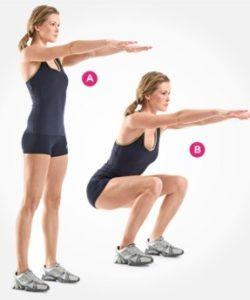 ejercicios para tonificar piernas sentadilla