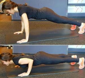ejercicios de brazos flexion de triceps