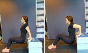 ejercicios de brazos triceps en banco