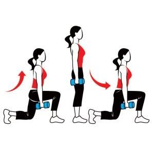 Ejercicios para aumentar glúteos lunges