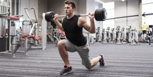 entrenamientos fullbody zancada peso