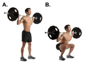 Como se hacen las sentadillas con pesas