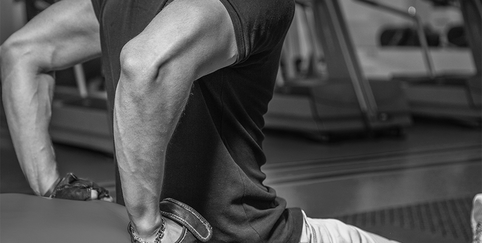 Tríceps con mancuernas