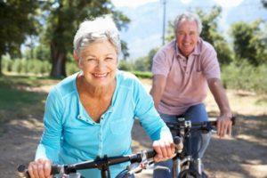 gimnasia para mayores bici