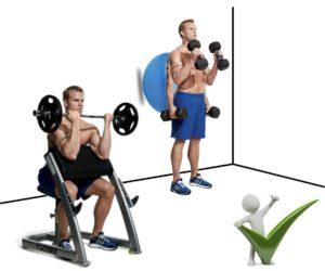 curl de biceps pesas