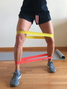 entrenamiento de pierna con elasticos abductor dos