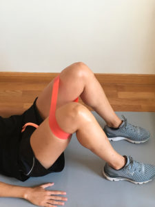 entrenamiento de pierna con elasticos cadera
