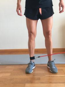entrenamiento de pierna con elasticos lateral