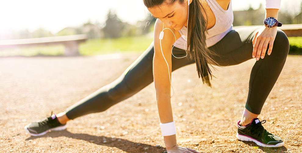 running y suelo pelvico zancada