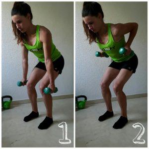 ejercicios con mancuernas remo