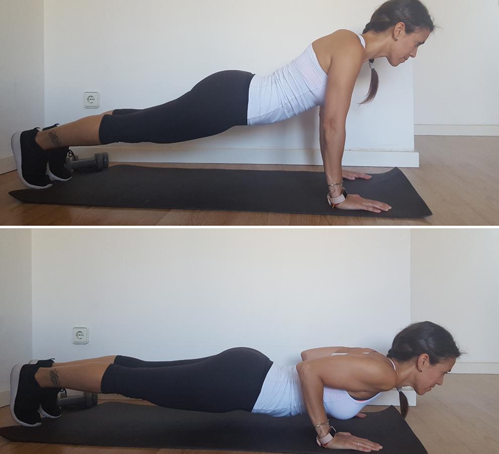 ejercicios de triceps con mancuerna flexion