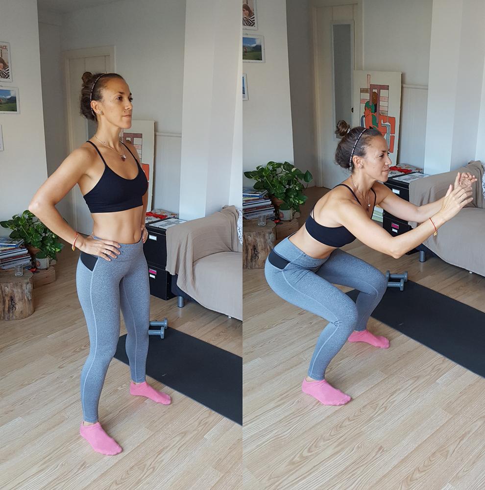 entrenamiento para perder peso sentadilla