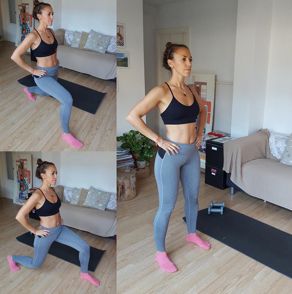 entrenamiento para perder peso zancada
