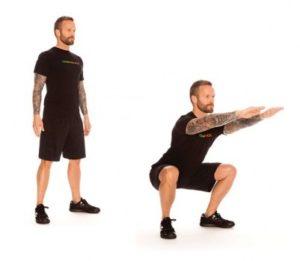 ejercicios complementarios sentadilla