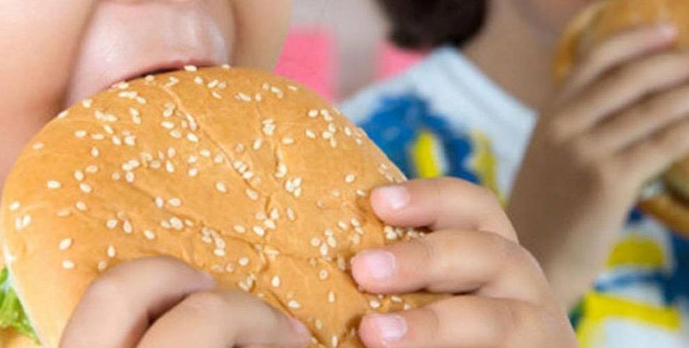 obesidad infantil hamburguesa