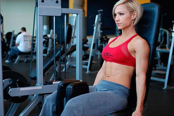 rutina de piernas para gym abductores