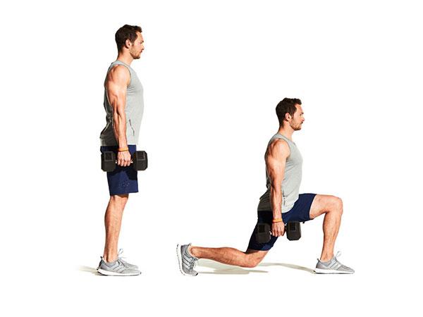 rutina de piernas para gym lunge