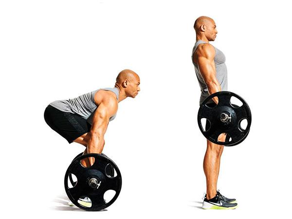 rutina de piernas para gym peso muerto