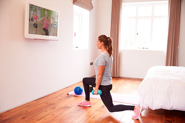 rutina de piernas para gym zancada