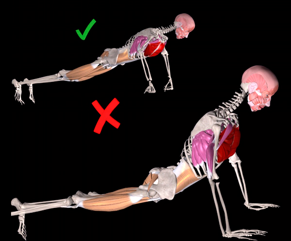flexiones para pectorales tecnica