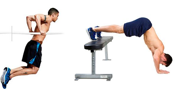 flexiones para aumentar biceps