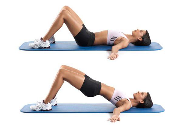 rutina de ejercicios para piernas puente