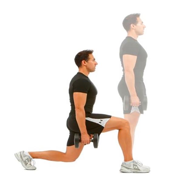 rutina de ejercicios para piernas zancada