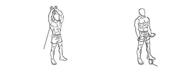ejercicios con pesas biceps polea