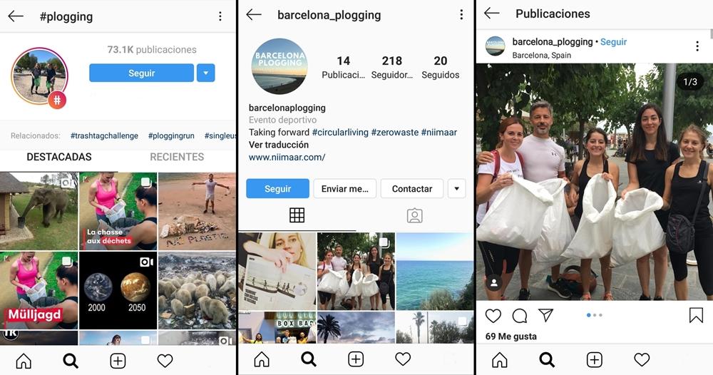 Plogging en Instagram